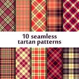 10 testes padrões sem emenda da tartã Ilustração do Vetor