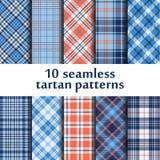 10 testes padrões sem emenda da tartã Foto de Stock Royalty Free