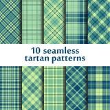 10 testes padrões sem emenda da tartã Imagens de Stock