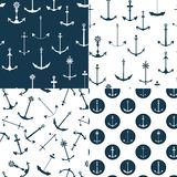 Testes padrões sem emenda das escoras náuticas ilustração stock