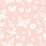 Testes padrões sem emenda delicados do vetor cor-de-rosa e branco Repetindo a textura Imagem de Stock Royalty Free
