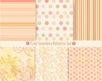 Testes padrões sem emenda desenhados à mão bonitos Textura infinita para o registro do papel ou da sucata Imagens de Stock Royalty Free