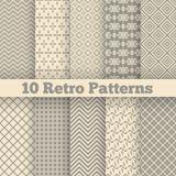 Testes padrões sem emenda diferentes retros Vetor Foto de Stock Royalty Free
