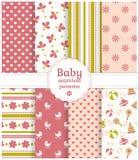 Testes padrões sem emenda do bebê. Grupo do vetor. Imagens de Stock Royalty Free