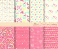 Testes padrões sem emenda do coração Fotografia de Stock Royalty Free