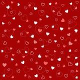 Testes padrões sem emenda do coração com textura da tela Fotografia de Stock Royalty Free