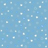 Testes padrões sem emenda do coração com textura da tela Foto de Stock Royalty Free