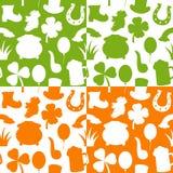 Testes padrões sem emenda do dia de St Patrick s Imagens de Stock