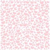 Testes padrões sem emenda do dia do ` s do Valentim Fundos cor-de-rosa infinitos com corações em um fundo branco Fotografia de Stock