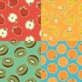 Testes padrões sem emenda do fruto Fotografia de Stock Royalty Free