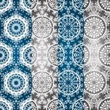 Testes padrões sem emenda do inverno do vetor Imagem de Stock Royalty Free