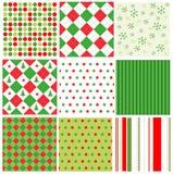 Testes padrões sem emenda do Natal Imagens de Stock