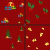 Testes padrões sem emenda do Natal Foto de Stock Royalty Free