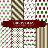 10 testes padrões sem emenda do Natal diferente Textura infinita para o papel de parede, o fundo do página da web, o papel de env Fotos de Stock