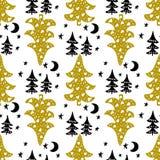 Testes padrões sem emenda do Natal Projeto do vetor para os feriados de inverno ilustração stock