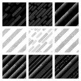 Testes padrões sem emenda do vetor ajustados Foto de Stock