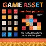Testes padrões sem emenda do vetor do ativo do jogo Fotografia de Stock Royalty Free
