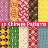 Testes padrões sem emenda do vetor chinês diferente Fotos de Stock Royalty Free