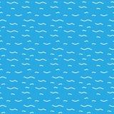Testes padrões sem emenda do vetor da água Fotografia de Stock
