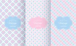 Testes padrões sem emenda do vetor diferente da cor pastel do bebê ilustração stock