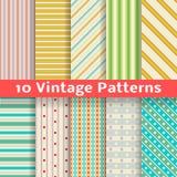 Testes padrões sem emenda do vetor diferente da listra do vintage Imagem de Stock