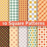 Testes padrões sem emenda do vetor quadrado diferente Imagem de Stock Royalty Free