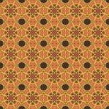 Testes padrões sem emenda do vetor universal da laranja, telhando Ornamento geométricos Fotos de Stock Royalty Free