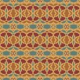 Testes padrões sem emenda do vetor universal da laranja, telhando Ornamento geométricos Foto de Stock