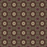 Testes padrões sem emenda do vetor universal de Brown, telhando Ornamento geométricos Fotos de Stock