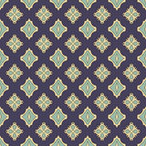 Testes padrões sem emenda do vetor universal do azul, telhando Ornamento geométricos Fotografia de Stock Royalty Free
