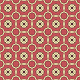 Testes padrões sem emenda do vetor universal do vermelho, telhando Ornamento geométricos Fotos de Stock Royalty Free