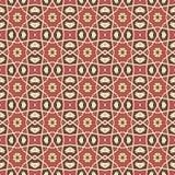 Testes padrões sem emenda do vetor universal do vermelho, telhando Ornamento geométricos Imagem de Stock Royalty Free