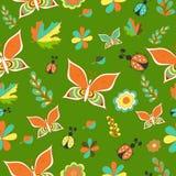 Testes padrões sem emenda do vetor verde suculento brilhante do verão Repetindo a textura Imagem de Stock Royalty Free