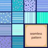 10 testes padrões sem emenda do vintage simples dos pontos e das listras ilustração stock