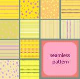 10 testes padrões sem emenda do vintage simples dos pontos e das listras ilustração royalty free