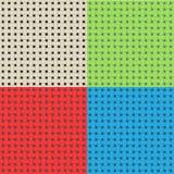Testes padrões sem emenda do weave colorido do vetor Imagem de Stock Royalty Free