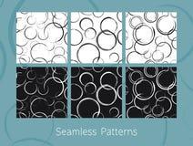 Testes padrões sem emenda dos círculos do sumário ajustados Foto de Stock