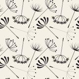 Testes padrões sem emenda dos dentes-de-leão abstratos Imagem de Stock