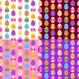 Testes padrões sem emenda dos ovos da páscoa ajustados Foto de Stock Royalty Free