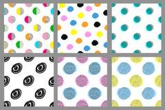 Testes padrões sem emenda geométricos coloridos Fundos brilhantes ajustados Imagens de Stock Royalty Free