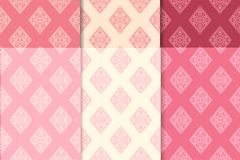 Testes padrões sem emenda geométricos do vermelho de cereja Fotografia de Stock