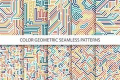 Testes padrões sem emenda listrados coloridos do vetor - projeto multicolorido digital ilustração stock