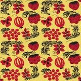Testes padrões sem emenda no estilo tradicional Hohloma do russo Imagens de Stock Royalty Free