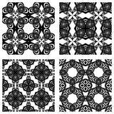 Testes padrões sem emenda preto e branco Fotografia de Stock Royalty Free