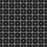 Testes padrões sem emenda preto e branco clássicos com cruzes e linhas dos quadrados Imagens de Stock