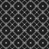 Testes padrões sem emenda preto e branco clássicos com rombo, cruzes e linhas Foto de Stock Royalty Free