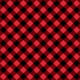 Testes padrões sem emenda pretos e vermelhos diagonais quadriculado Fundo da forma do vetor Ilustração Royalty Free