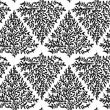 Testes padrões sem emenda que ramos ilustração stock