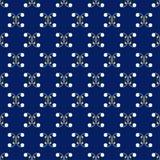Testes padrões sem emenda retros do vetor azul e branco Repetindo a textura Fotografia de Stock Royalty Free