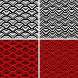 Testes padrões sem emenda simples da onda Imagem de Stock